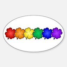 Shamrock Pride Sticker (Oval)