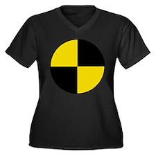 Unique Dummy Women's Plus Size V-Neck Dark T-Shirt