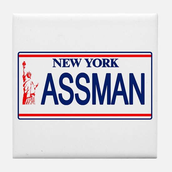 Seinfeld Ass Man License Plat Tile Coaster