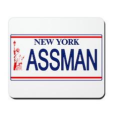 Seinfeld Ass Man License Plat Mousepad