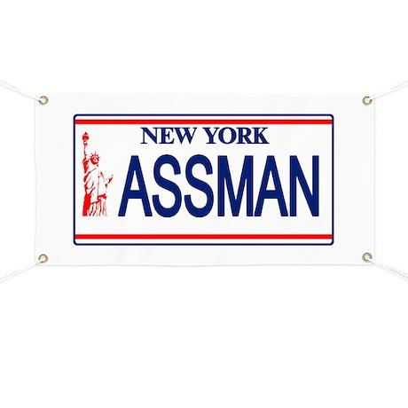 Seinfeld Ass Man License Plat Banner