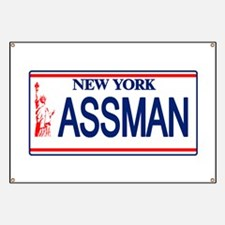 Seinfeld Ass Man License Plat Banner