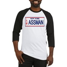 Seinfeld Ass Man License Plat Baseball Jersey