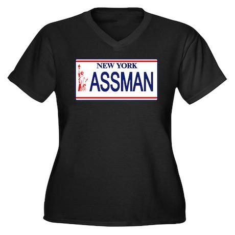 Seinfeld Ass Man License Plat Women's Plus Size V-