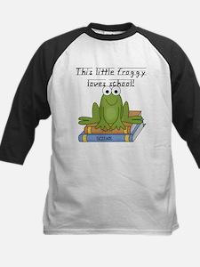 Froggy Loves School Kids Baseball Jersey