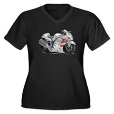 Hayabusa White-Red Bike Women's Plus Size V-Neck D