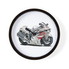 Hayabusa White-Red Bike Wall Clock