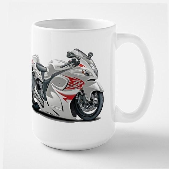 Hayabusa White-Red Bike Large Mug