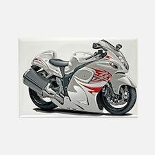 Hayabusa White-Red Bike Rectangle Magnet