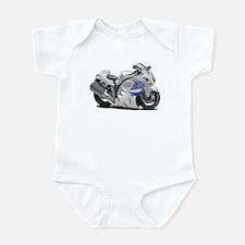 Hayabusa White-Blue Bike Infant Bodysuit