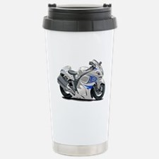Hayabusa White-Blue Bike Travel Mug