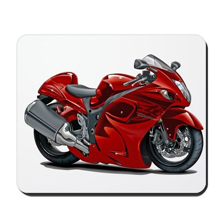 Hayabusa Red Bike Mousepad