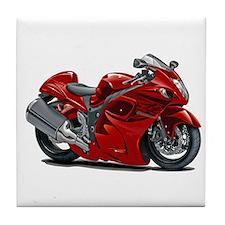 Hayabusa Red Bike Tile Coaster