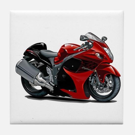 Hayabusa Red-Black Bike Tile Coaster