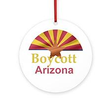 BOYCOTT Arizona Ornament (Round)