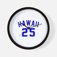 Hawaii 25 Birthday Designs Wall Clock