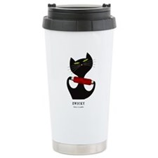 black cat thread Travel Mug
