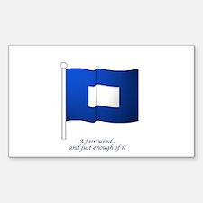 Blue Peter Sticker (Rectangle)
