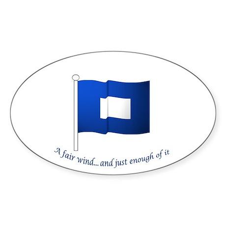 Blue Peter Sticker (Oval)