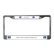 Blue Peter License Plate Frame