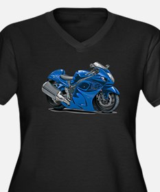 Hayabusa Blue Bike Women's Plus Size V-Neck Dark T