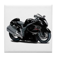 Hayabusa Black Bike Tile Coaster
