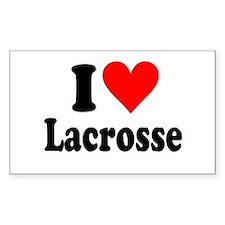 I Heart Lacrosse: Decal
