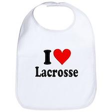 I Heart Lacrosse: Bib