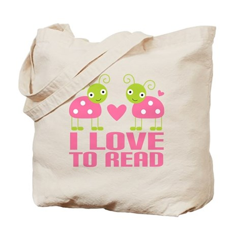 Ladybug I Love To Read Tote Bag