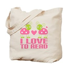 Ladybug I Love To Read Tote Bag