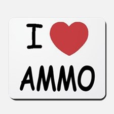 I heart ammo Mousepad