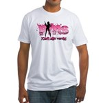 PMS You've Been Warned Fitted T-Shirt