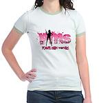 PMS You've Been Warned Jr. Ringer T-Shirt