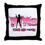 PMS You've Been Warned Throw Pillow