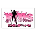 PMS You've Been Warned Sticker (Rectangle)