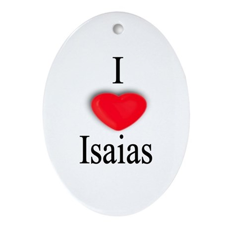 Isaias Oval Ornament