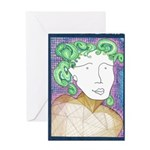 Madge Letting Go Greeting Card