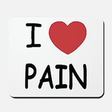 I heart pain Mousepad