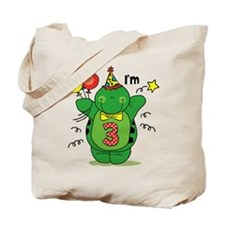 Happy Turtle 3rd Birthday Tote Bag