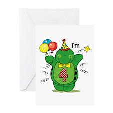 Happy Turtle 4th Birthday Greeting Card