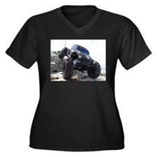 LOSI ROCK CRAWLER Women's Plus Size V-Neck Dark T-