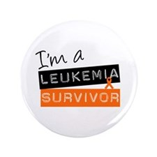 "I'm a Leukemia Survivor 3.5"" Button (100 pack)"