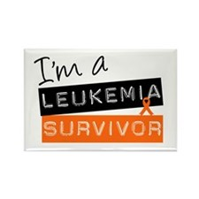 I'm a Leukemia Survivor Rectangle Magnet