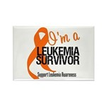 I'm a Leukemia Survivor Rectangle Magnet (100 pack