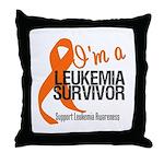I'm a Leukemia Survivor Throw Pillow