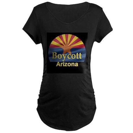 Boycott Arizona Maternity Dark T-Shirt