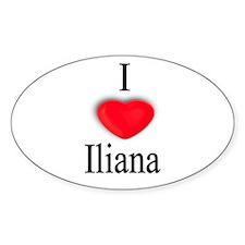 Iliana Oval Decal