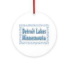 Detroit Lakes Minnesnowta Ornament (Round)