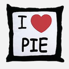 I heart pie Throw Pillow