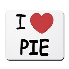 I heart pie Mousepad